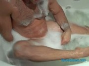 Str8 Stroke in bubblebath from Hotgymnast.com