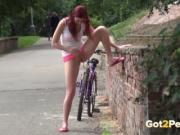 Amateur public peeing compilation