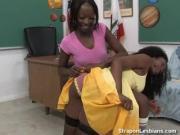 ebony strapon lesbian anal teacher