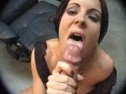 Hot little slut gives Hot blowjob