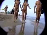 Nudists at the beach