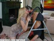 MommyBB Busty MILF Julia Ann is sucking on my tied up boyfriend!
