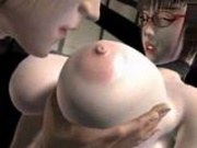 Hardcore busty 3D school teacher