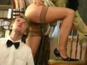 Russian Lady Seduces The Waiter