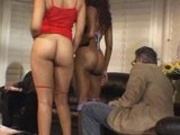 Caramel & Friend Fuck Lucky White Guy