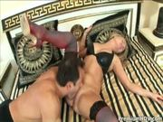 Tough internal action in sexy outfit