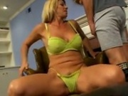 Horny Blonde MILF Loves Riding Cock