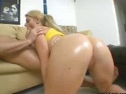 Bubble buut blonde picked up and fucked