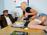 Mr. Lee fucks Kenzi in class