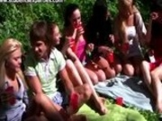Russian Students On A Picnic