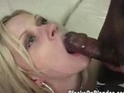Interracial facial cumshot
