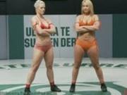 Hot Chicks Wrestling Naked!