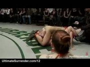 Real wrestling match between two teams
