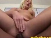 Looks Like There's A Black Cock In Her Ass