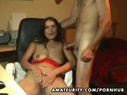 Amateur girlfriend blowjob with facial cumshot