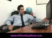 Guy surprises coworker watching gay porn at the office