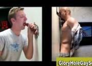 Straight dude with goatee gets a bj