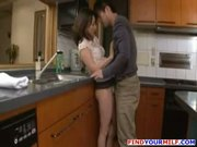Asian stepmother cheating with her son