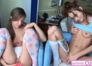 duo lesbians using new dildos