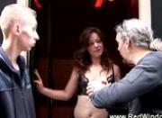 Sexy dutch whore sucks cock