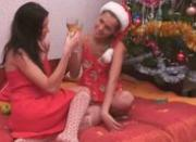 Insane lesbian love under xmas tree