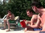 Amazing foursome by the pool