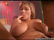 Busty Blonde Velicity Von Fucked by a Big Black Cock