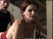 Nina Roberts in garage