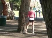 Hot blonde spotted in the park and fucked by a stranger