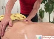 Gay stud getting his dick massaged By Massagevictim