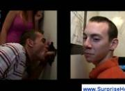Confused guy at the gloryhole