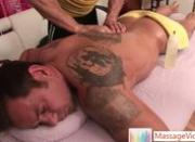 Finn Daniels gets extra deep massage