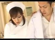 Nurse sits on patients face with naked pussy