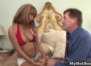 Bella Moretti is a lovely  ebony diva with blonde