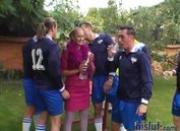 Valery Hilton loves soccer so much
