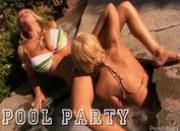 Two Exquisite Blondes Getting Fucked Poolside