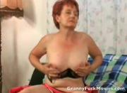 Granny mastrubating her fresh shaved pussy