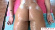 Dude getting oiled up for some anal massage by gotrub