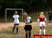 Brazilian trannies playing footbal