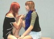 two lesbians having fun