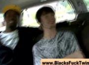 Horny and hungry twink gets interracial