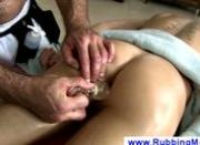 Gay massages clients asshole with toys