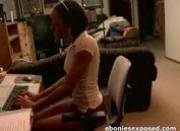 Amateur Ebony Teen Spanked