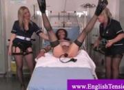 Dominatrix pegging a sissy crossdresser