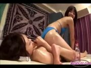 Massage with Lesbian Asian Wow