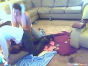 Amateur Threesome Webcam In Living Room