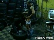 Fucking in the garage