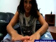 pov handjob with lube
