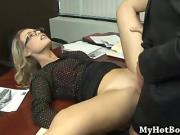 Charley Monroe is a long blonde haired secretary