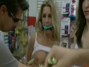 Blonde whore with perky tits gets into trouble